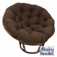 44-inch Indoor Outdoor Patio Backyard Furnishing Twill Papasan Cushion Sofa  Seat! Chocolate Chair