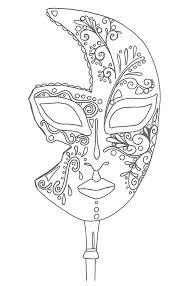 De Tekena Op Dit Masker Vind Ik Erg Interesant Masker