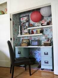 brilliant cool and stylish office desk in closet decoration inside closet desk ideas
