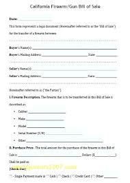 Bill Of Sale Form Beautiful Template Free Gun Inspirational Firearm ...