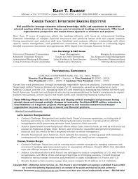 Template Template Investment Bank Resume Banker Sample Banking Cv