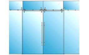 sliding door rail system heavy duty wall mount hanging barn glass elevation closet track repair jacksonville fl rails frameless topper glassdoor