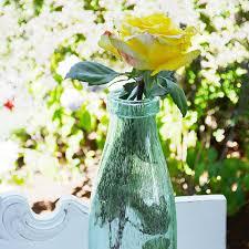 table decor bubble glass flower vase 4 x 15 inches milk bottle vintage green com