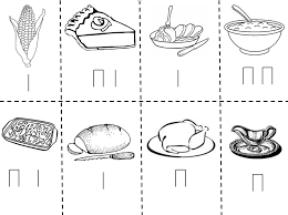 Small Picture Thanksgiving Coloring Cutouts Coloring Coloring Pages
