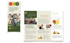 mortgage flyers templates mortgage broker tri fold brochure template design