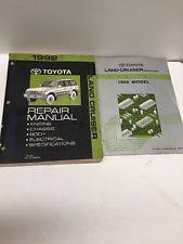 toyota land cruiser repair manual 1992 toyota land cruiser oem repair manual and electrical wiring diagram set