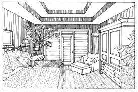 Glamorous Interior Design Bedroom Drawing 66 On Simple Design Room