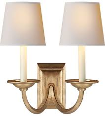 Chart House 2 Light 13 Inch Gilded Iron Wall Sconce Wall Light