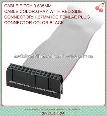 pitch 2 54mm 20 pin idc female connector flat ribbon cable 30cm Dual 20 Pin Wire Harness pitch 2 54mm 20 pin idc female connector flat ribbon cable 30cm long Wire Electrical Pin Connectors Male