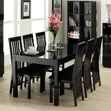 elegant dining room inspiration decorating featuring black wooden new black wood dining room table