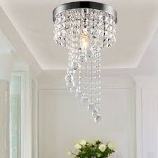 decor ideas sophisticated small crystal chandeliers crystal flush mount lights crystal and chrome stainless steel material