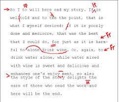 a correction symbols