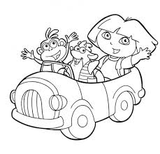 Small Picture dora the explorer coloring pages to print car BestAppsForKidscom
