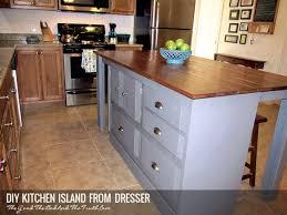 diy kitchen island from dresser. Diy Kitchen Island From Dresser O
