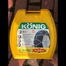 Konig T2 Snow Chains Size Chart Used Konig Snow Chains T2 Magic Size 100 Self Tensioning