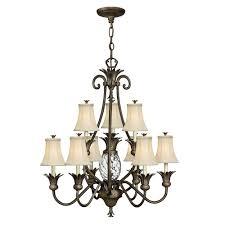 plantation 2 tier 9 light chandelier by hinkley lighting