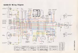 kz400 wiring help motorcycle project i m a bit of a newby and confused by all the dots connecting and wires crossing etc i know there is a cartoony wiring diagram
