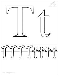 1001 Kleurplaten Tekens Letters Kleurplaat Letter T