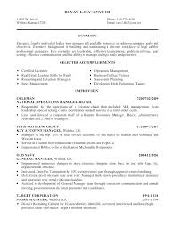 Resume Objective Examples For Retail Sales Resume Objective Examples Foodcity Me