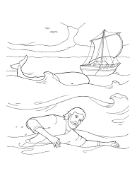 magic jonah inside the whale coloring page runaway from printable pages