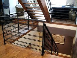 custom stair railings iron railing fabrication installation for commercial  residential modern wrought