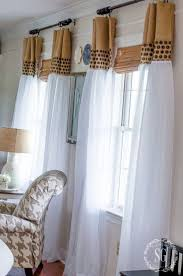 HOW TO UPDATE SHEER CURTAINS. Here's how to take a cheap pair of sheer  curtains