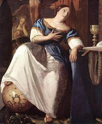 johannes vermeer the allegory of the faith detail