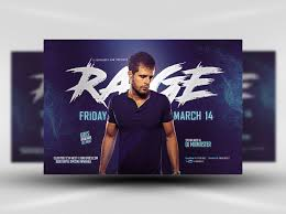 Blue Rage Party Flyer Template Flyerheroes