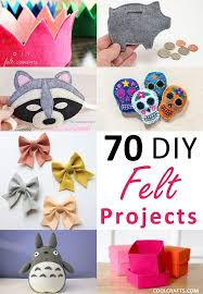 fun easy diy projects awesome felt craft projects 70 diy ideas made with felt of 19