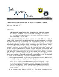 interagency essays arthur d simons center iae 14 01w understanding environmental security and climate change