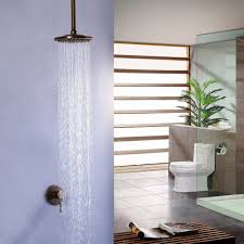 Brewst Antique Brass Ceiling Rain Shower Head Only Wall