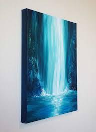 large painting ideas best 25 waterfall paintings ideas on waterfall free