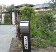 modern curbside mailbox. Modern Curbside Stainless Steel Locking Mailbox On