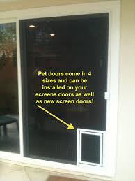 pet screen doors screen door with doggy door fabulous screen doors