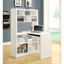 full image for antique white corner computer desk workstation hutch with writing combination organizer