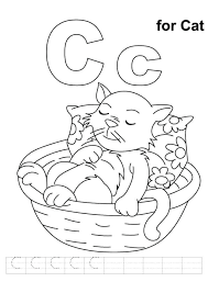 C Is For Cat Coloring Page C For Cat Coloring Page Fat Cat Coloring