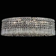 brizzo lighting s 26 bossolo transitional crystal oval flush pertaining to flush mount crystal chandelier