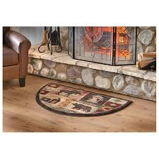 mohawk lodge hearth rug attractive half moon shape