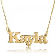 14k gold name necklace kayla print name plate 14k gold name necklaces classic name necklaces name necklaces namefactory