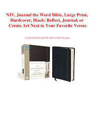Ebook Pdf Niv Journal The Word Bible Large Print Hardcover