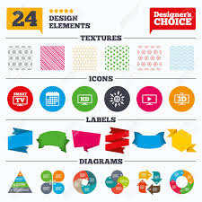 High Definition Resolution Chart Banner Tags Stickers And Chart Graph Smart Tv Mode Icon Widescreen