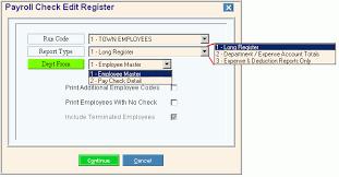 Payroll Check Edit Register Instructions