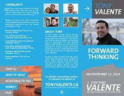 Campaign Brochure Tony Valente Jaden Nyberg Designs