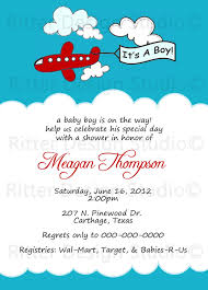 Airplane Baby Shower Invitations Boy The And Ticket Invitation ...