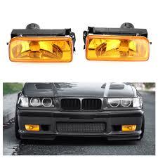 E36 Fog Light Lens 2pcs Car Bumper Fog Lights Clear Lens Housing Case For Bmw