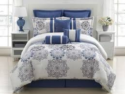 beautiful blue and grey comforter sets applied to your home concept
