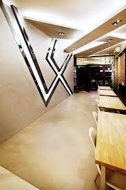 office define. interior feature wall design area space define singapore office