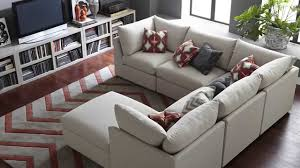 beckham pit sectional  seat cushions box and room