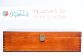 tie case diy tie organizer repurposed from wooden box