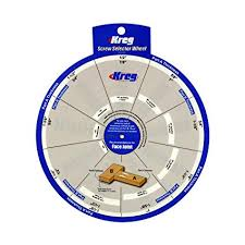 Kreg Screw Length Chart Kreg Tools Ssw Kreg Screw Selector Wheel Woodworking